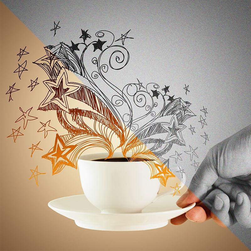 A cafeína pode diminuir sua criatividade