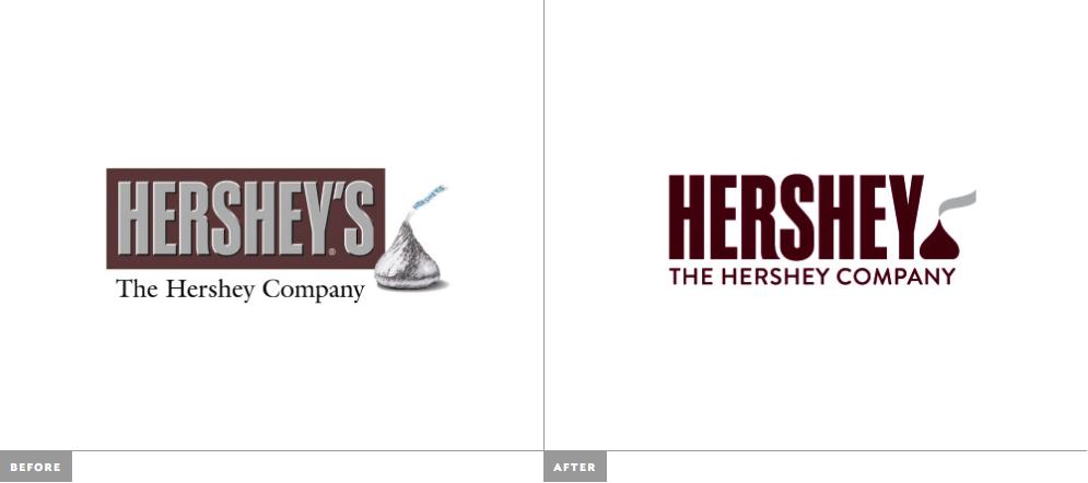 Novo Logo e Identidade da Hershey's