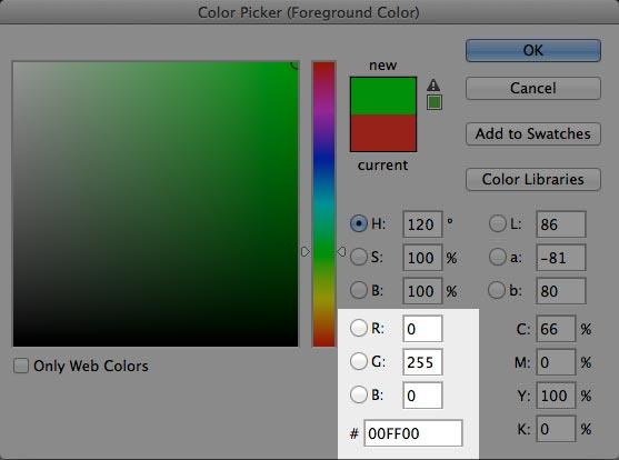 RGB e HEX (hexadecimal)